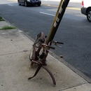 super rusty bike on bushwick ave