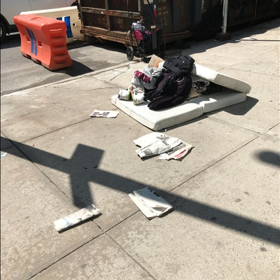 Trash near Edward Corsi Houses, East 116th Street, East Harlem, Manhattan, Manhattan Community Board 11, New York County, New York City, New York, 10029, USA