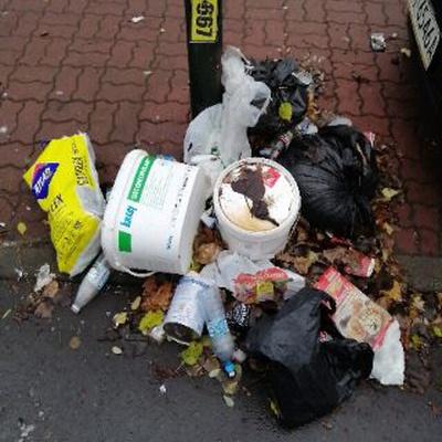 Trash near Przedszkole nr 58 imienia Czesława Janczarskiego, Batalionu AK  Pięść, Koło, Wola, Warsaw, Masovian Voivodeship, 01-406, Poland
