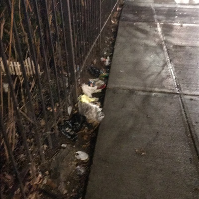 Trash near El Gallo Social Club Inc., East 118th Street, East Harlem, Manhattan Community Board 11, Manhattan, New York County, New York, 10035, United States of America