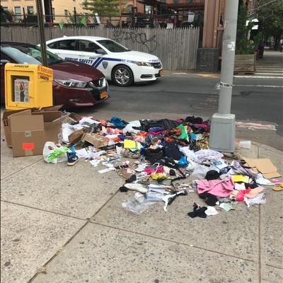 Trash near 66 East 117th Street, New York
