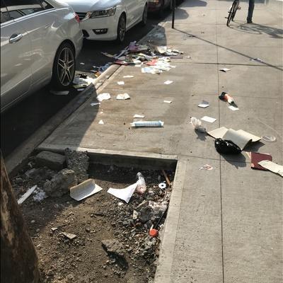 Trash near 1 East 117th Street, New York