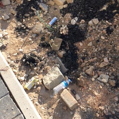 Trash near Yıldırım Belediyesi Çelebi Mehmet Katlı Otoparkı, Bölüntü Sokak, Karaağaç Mahallesi, Yıldırım, Bursa, Marmara Region, 16010, Turkey