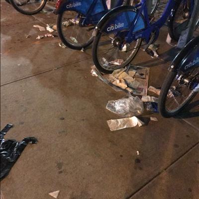 Trash near 136 Malcolm X Boulevard, New York City