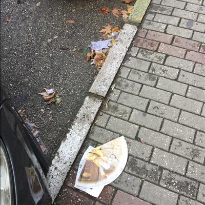 Trash near Genç emlak ipekçilik, İpekçilik Caddesi, Kurtoğlu Mahallesi, Karaağaç Mahallesi, Yıldırım, Bursa, Marmara Region, 16010, Turkey