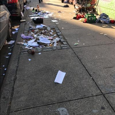 Trash near 175 East 120th Street, New York City