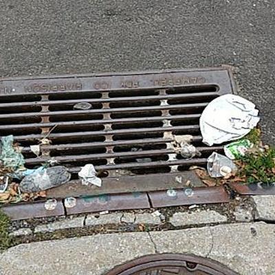 Trash near 31-17 21st Street, New York