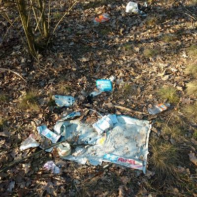 Trash near Wspólna, Zielona-Grzybowa, Wesoła, Warsaw, Warszawa, Masovian Voivodeship, 05-075, Poland
