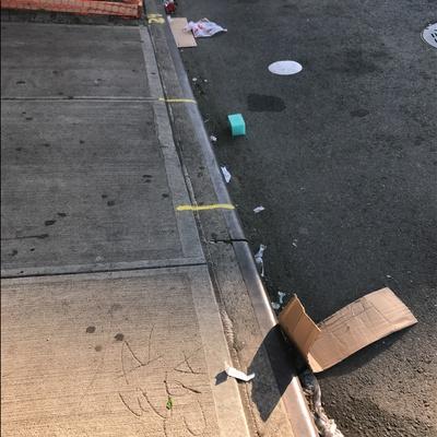 Trash near 2156 3rd Avenue, New York City