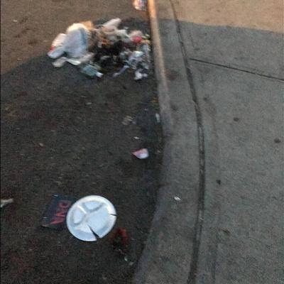 Trash near 2166 3rd Avenue, New York City