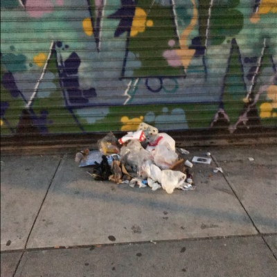 Trash near 2171 3rd Avenue, New York City