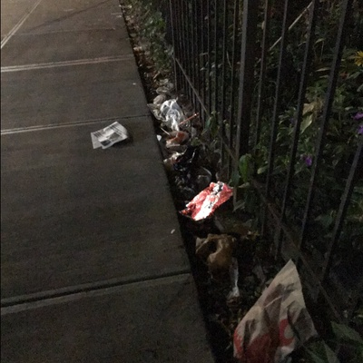 Trash near The Parker At Lexington Heights, East 118th Street, East Harlem, Manhattan Community Board 11, Manhattan, New York County, New York, 10035, USA