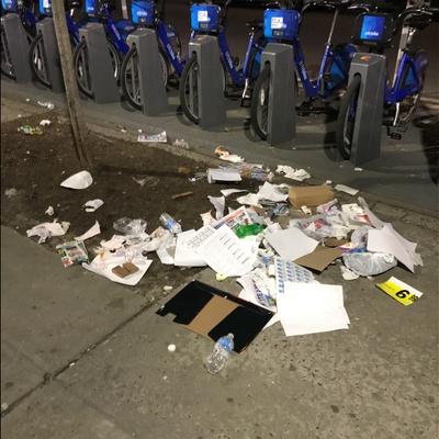 Trash near 200 East 118th Street, New York City