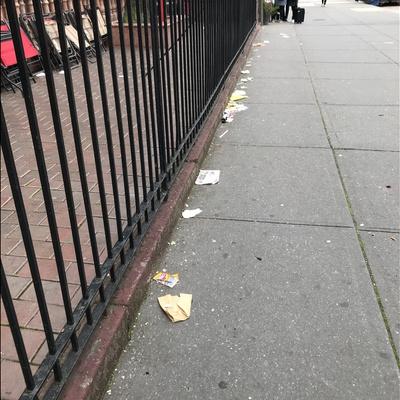 Trash near Malcolm X Boulevard & West 122nd Street, Malcolm X Boulevard, Harlem, Manhattan, Manhattan Community Board 10, New York County, New York City, New York, 10037, USA