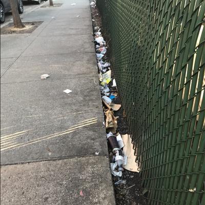 Trash near 1697 Park Avenue, New York City