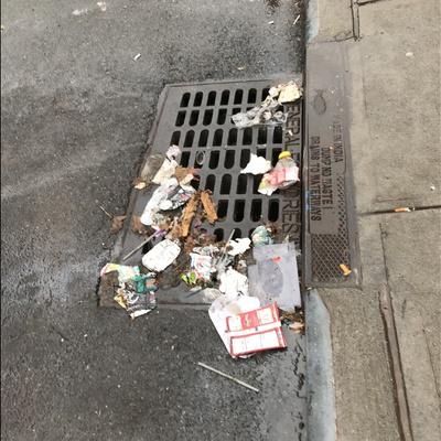 Trash near 2162 3rd Avenue, New York City