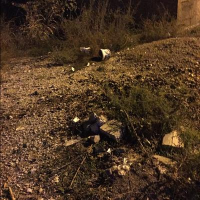 Trash near Ayazma Caddesi, Demirtaş Dumlupınar, Demirtaş Dumlupınar Mahallesi, Osmangazi, Bursa, Marmara Region, 16245, Turkey