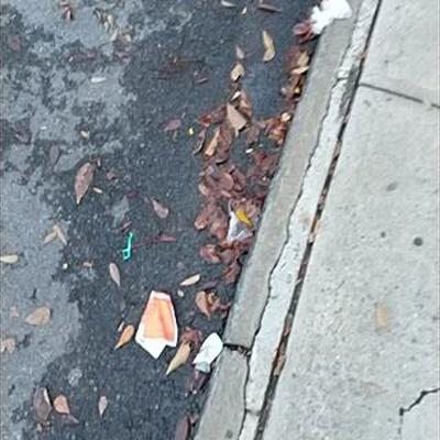 Trash near 30-28 14th Street, New York