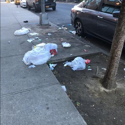 Trash near 100 East 122nd Street, New York