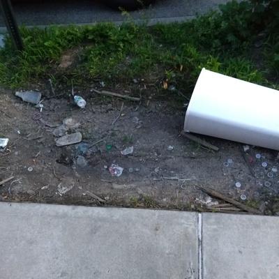 Trash near 14-18 28th Avenue, New York City