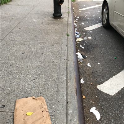 Trash near 1661 Park Avenue, New York City