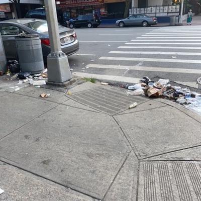 Trash near 177 East 122nd Street, New York
