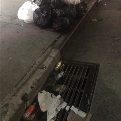 Trash near 737 Metropolitan Avenue, New York City
