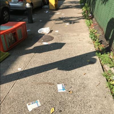 Trash near 1661 Park Avenue, New York
