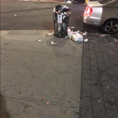 Trash near 130 East 118th Street, New York City