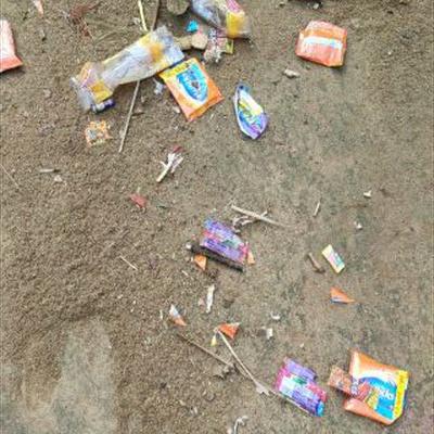 Trash near Dudhi, Sonbhadra, Uttar Pradesh, India