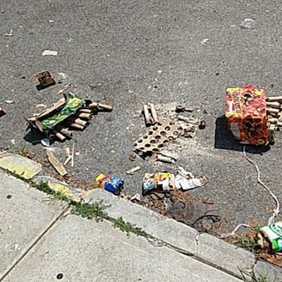 Trash near 14-30 Astoria Boulevard, New York