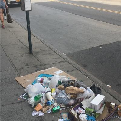Trash near 753 Manhattan Avenue, New York City
