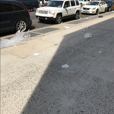 Trash near 1850 Lexington Avenue, New York City