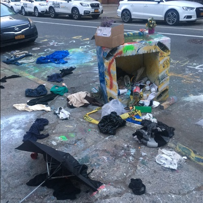 Trash near 161 North 6th Street, New York City