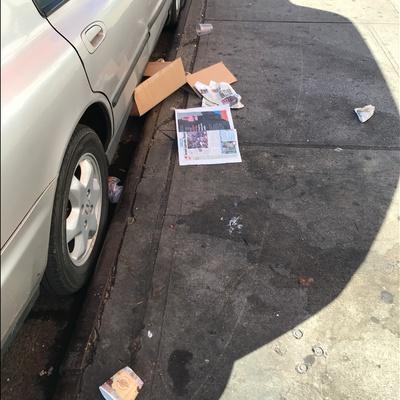 Trash near 1871 Lexington Avenue, New York City