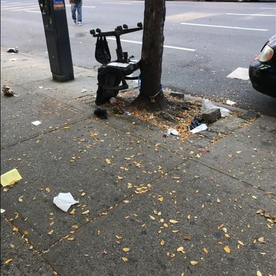 Trash near 2148 3rd Avenue, New York