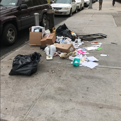 Trash near 1844 Lexington Avenue, New York City