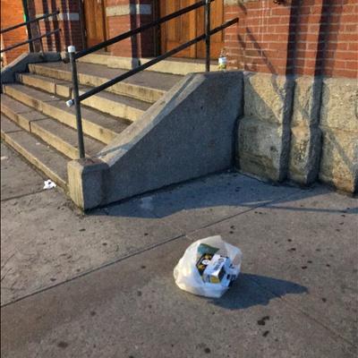 Trash near 117 East 118th Street, New York