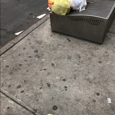 Trash near 156 East 117th Street, New York City